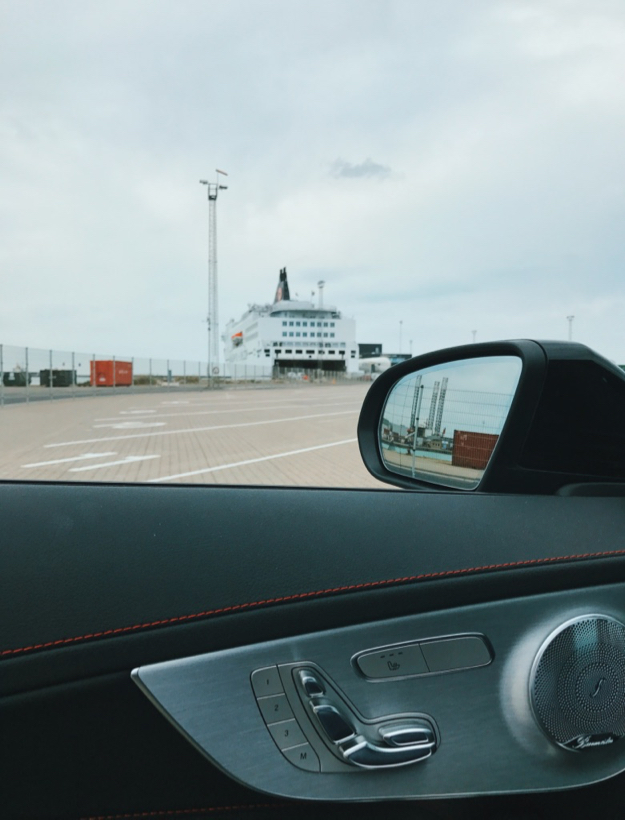 Boarding the Smyril Line ferry at Hirtshals in Denmark