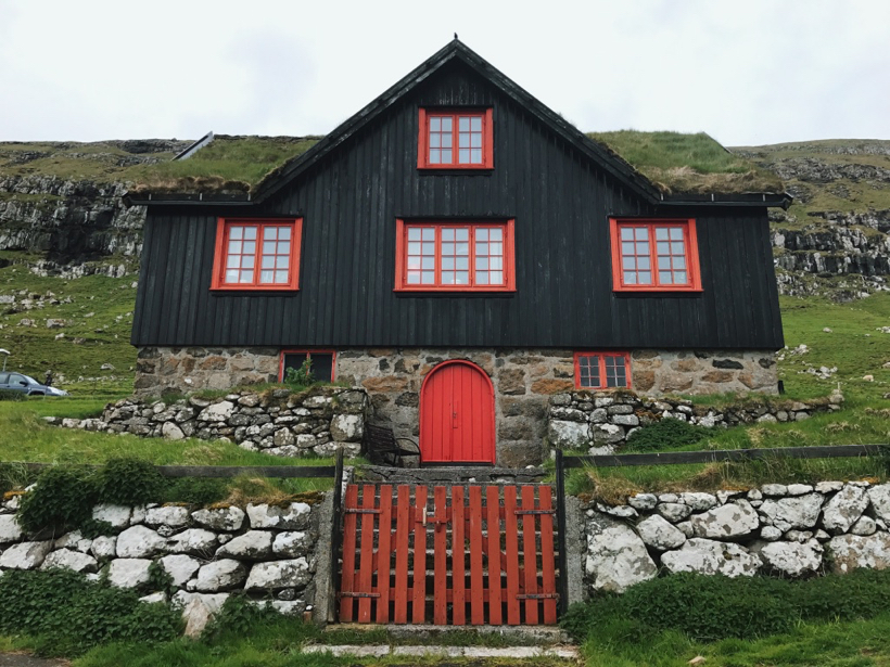 Kirkjubour - Faroe Islands on the island of Streymoy