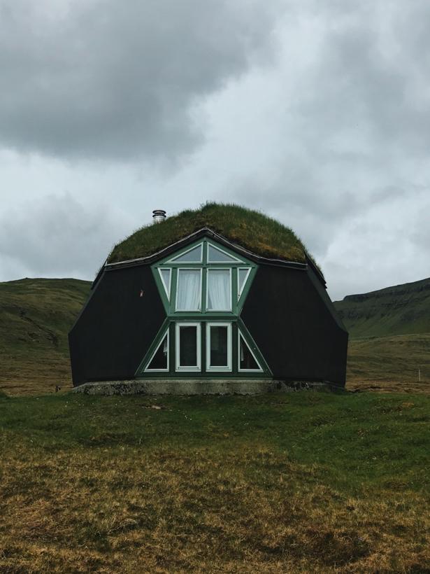 Dome houses near Vestmanna.