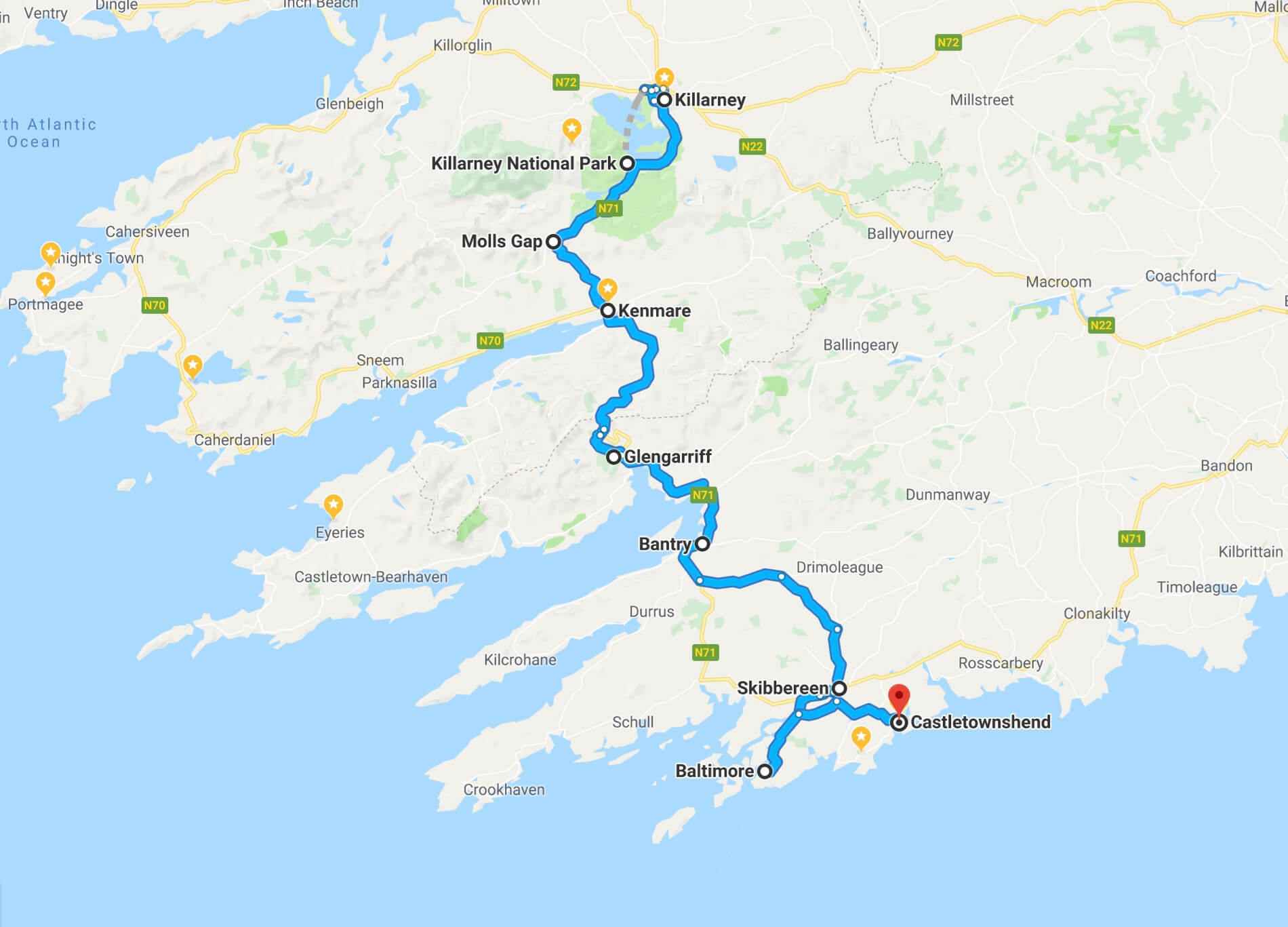 Killarney to Castletownshend Day 5