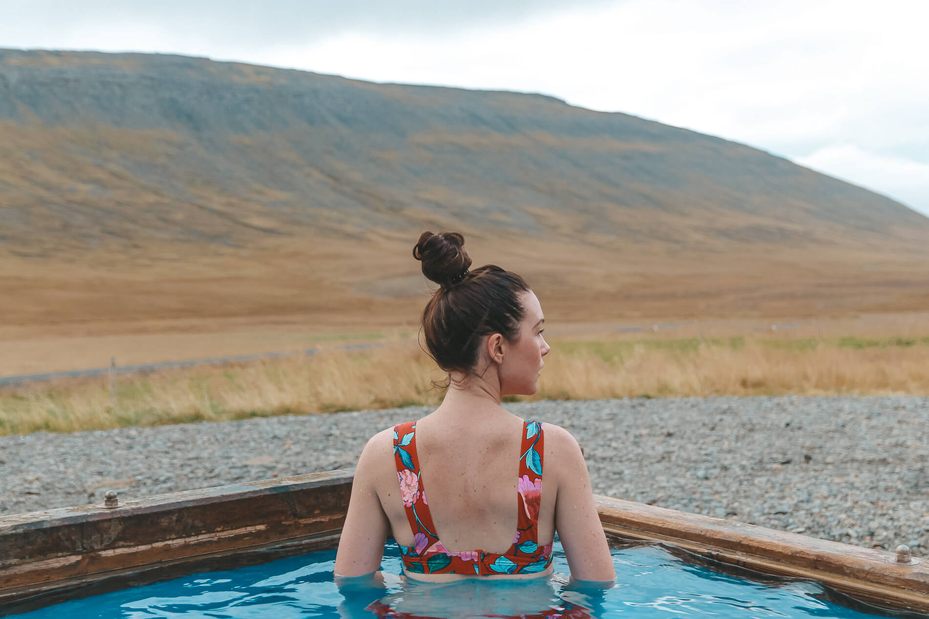 Airbnb outdoor hot pool west Iceland