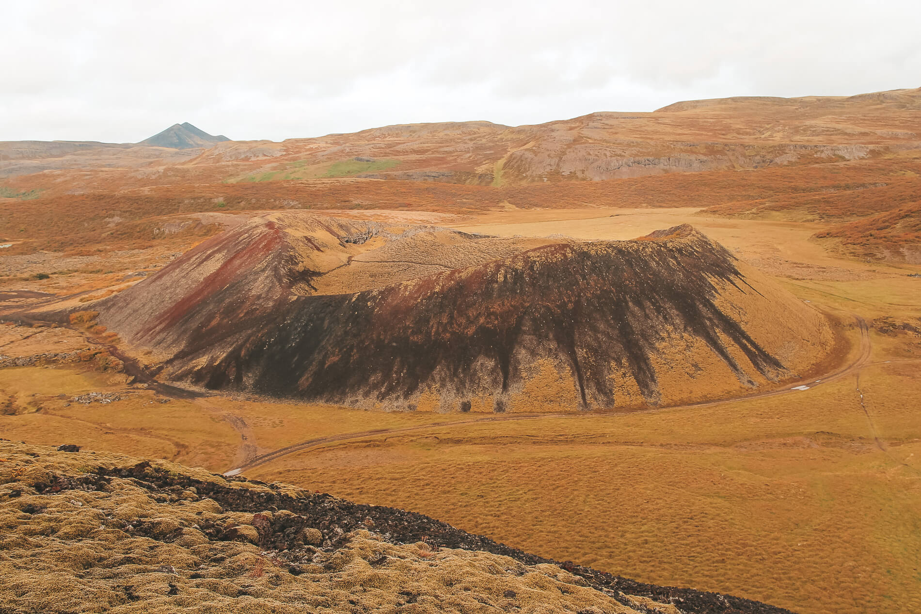 Grabrok crater, west iceland, iceland itinerary, off the beaten path iceland