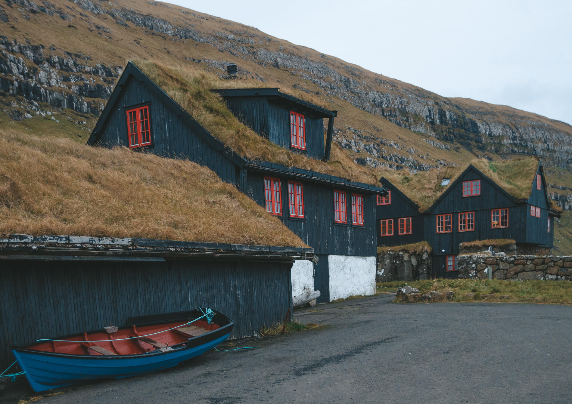 Kirkjubour Faroe Islands boat grass roof, faroe islands facts, visit faroe islands